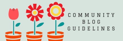 Community blog guidelines