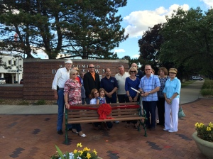 Attendees of the Bench Dedication Ceremony in August