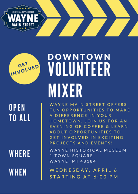Volunteer Mixer Flyer