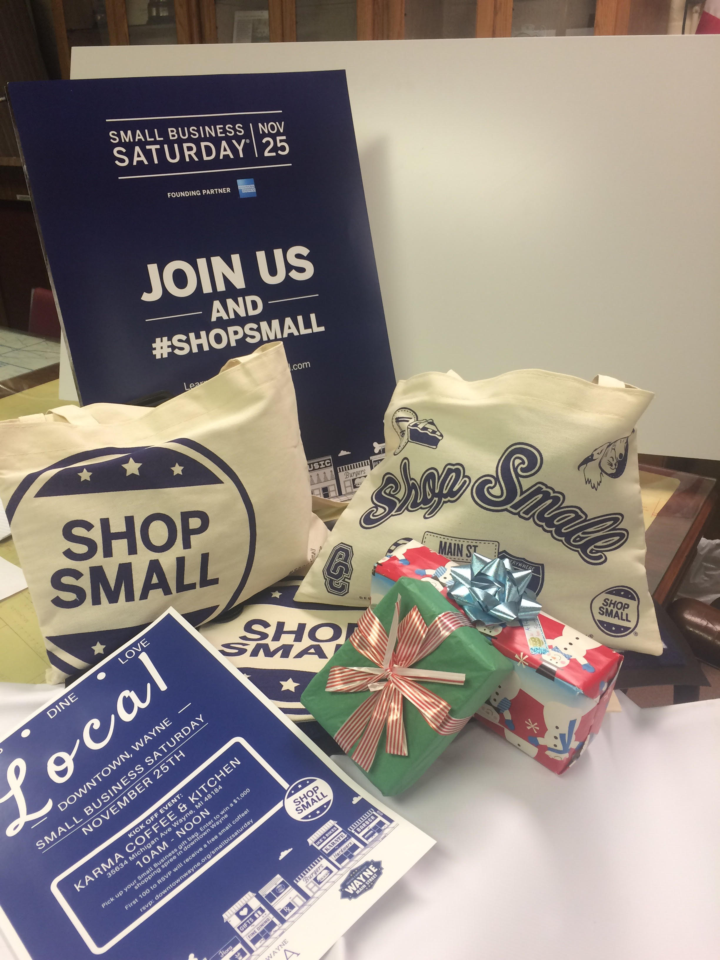 small business saturday press release gift card giveaways